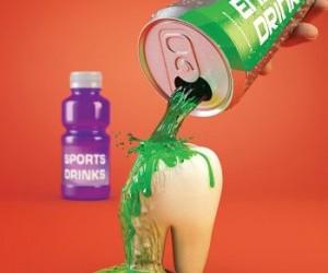 gaivieji gerimai kenkia dantims